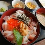 マジェスティ お刺身盛りだくさんの海鮮丼ツーリングin福井県小浜市