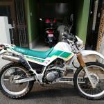 セロー225W フォークブーツ清掃バイク水洗い洗車