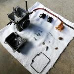KDX125SR 不動バイクのキャブレター分解洗浄オーバーホール