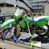 KDX125SR 不動バイクを軽トラックに積み込み運搬