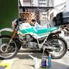 セロー225W エンジンオイル交換&オイルフィルター洗浄メンテナンス